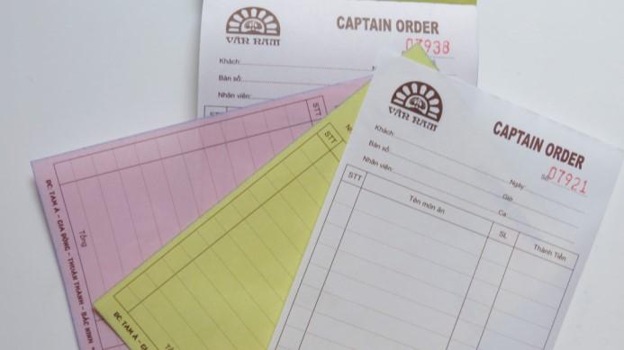 hóa đơn giấy