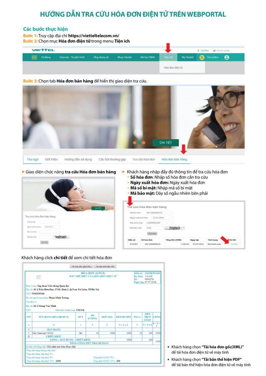hướng dẫn tra cứu hóa đơn điện tử viettel